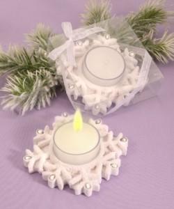 blog snowflake theme wedding favors